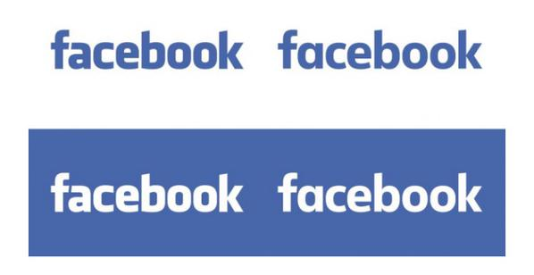 Facebook logo before & after the update