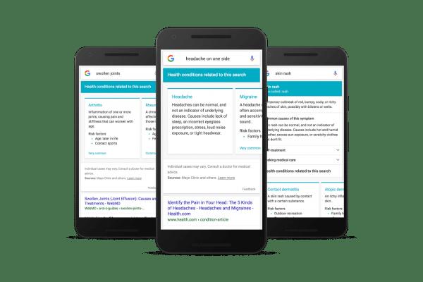 Google Sympton Search results